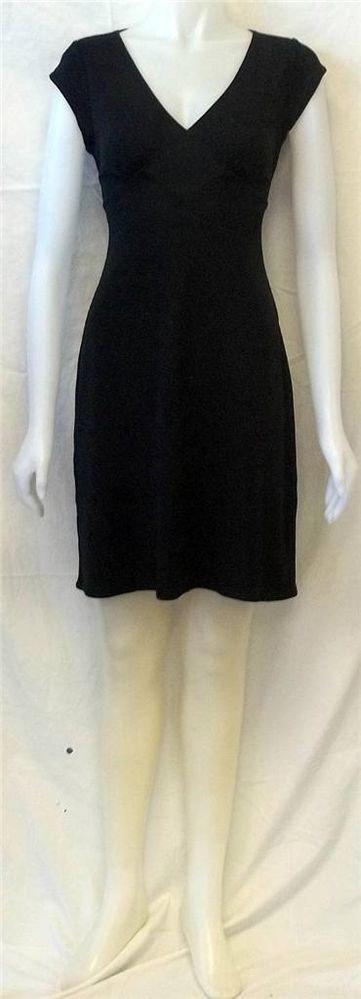 Gap XS Extra Small 0 2 Black V-Neck Knee Length  Evening Little Black Dress