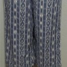 NEW Sara Studio Petite PL 12P 14P PXL 16P 18P  Blue White Cropped Capri Pants