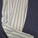 Wilson Light Gray Black Pinstriped Unisex Youth Baseball Uniform Pants Small S