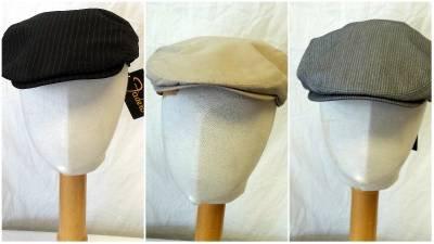 NEW Cabbie Newsboy Golf Hats Black Grey or Tan Small/Medium & Large/Extra Large