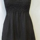 Studio Y Juniors Med 7 9 Black White Polka Dot Strapless Smocked Tube Top Blouse