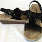 Cobbie Cuddlers 9W MX26 UK 7-1/2 EU 41 Black Leather Tan Buckle Loop Sandal