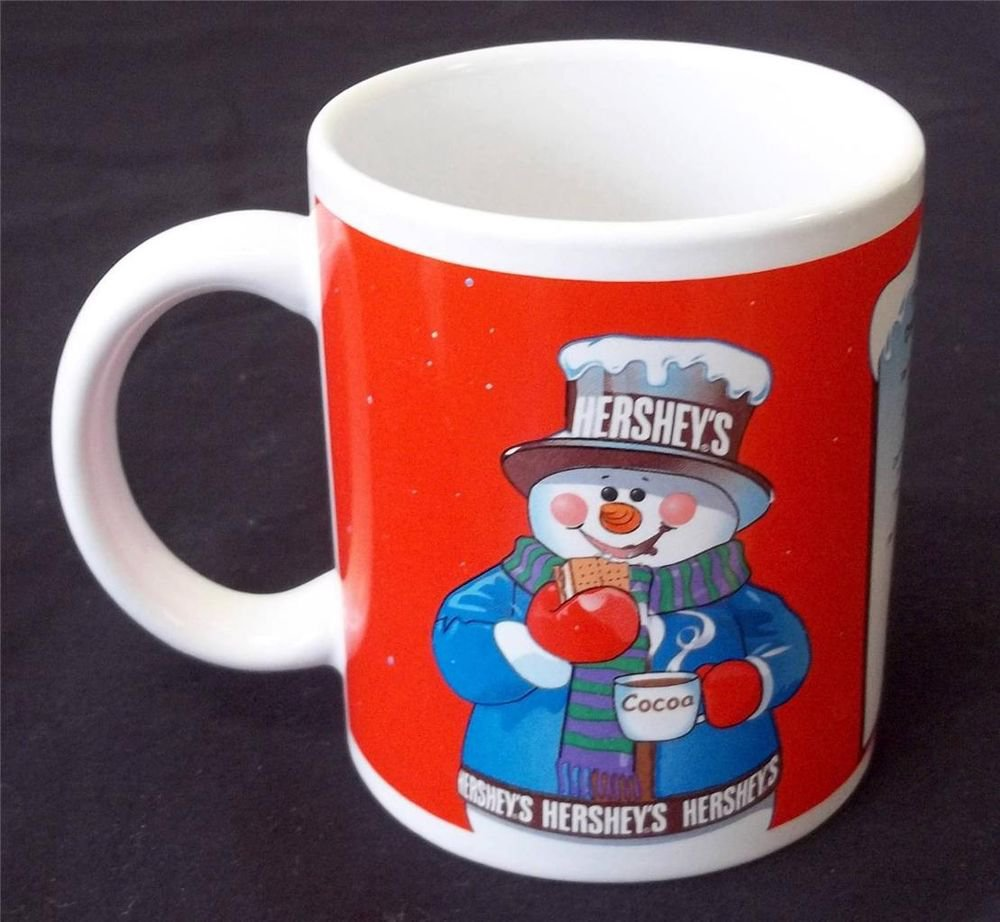 Hershey's Cocoa Snowman Red White Smores Small Coffee Cup Houston Harvest Gift