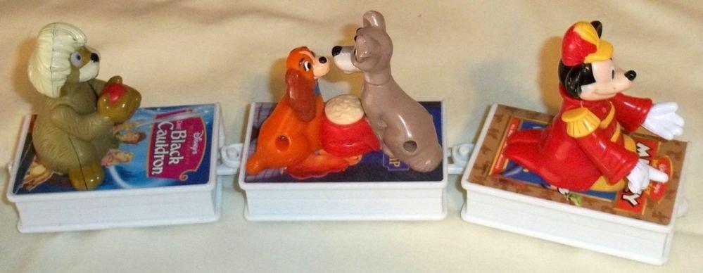 Early '90s McDonald's Disney Animated Happy Meal Premium 3 piece Book Train