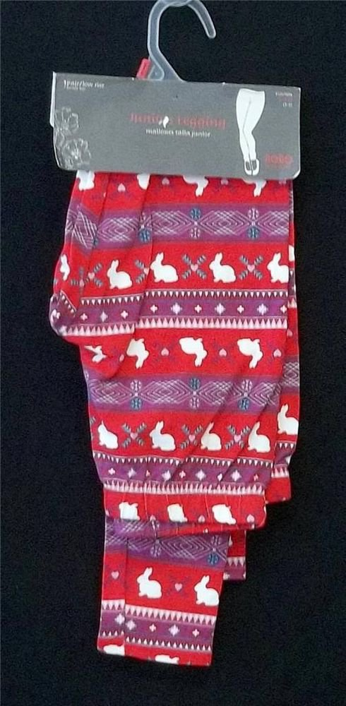 Juniors Small 3 5 No Boundaries Red Rabbit Low Rise Stretchy Ankle Leggings