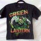 DC Comics Originals Youth 10 12 SS Black Green Lantern Graphic T Shirt