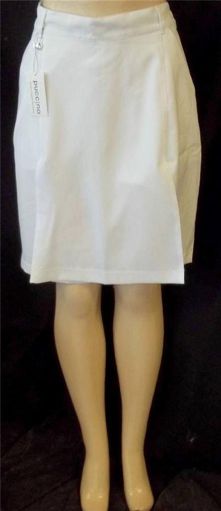 NEW Puccino European 29 Large 12 14 32 XL  16 18 White Walking Golf Skort Shorts
