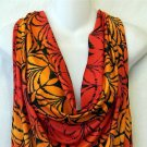 NEW Say Anything 1X 14W 16W Red Orange Black Abstract Cowl Neck Tank Blouse Top