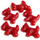 RED  LICORICE SCOTTIE DOGS BY GIMBALs