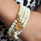 Tridacna gilded Buddha multi-bracelet