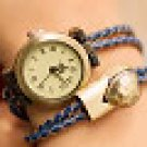 Personalized leather bracelet mix and match vintage watches