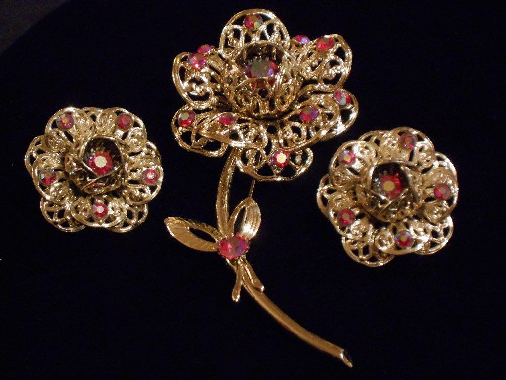 Sarah Coventry Floral Set