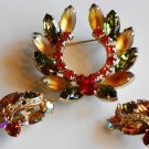 Autumn Horseshoe Brooch and ERs