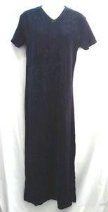 Victorias Secret Country Navy Blue Velour Medium Nightgown Long