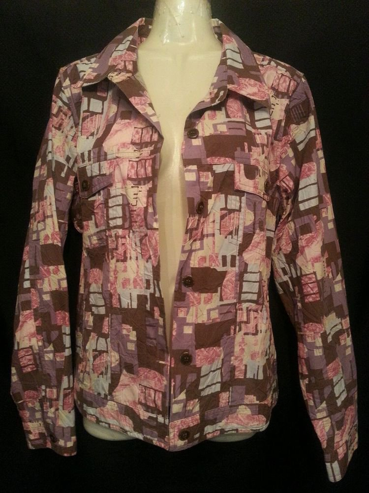 Christopher & Banks Size Medium Graphic Lightweight Jacket