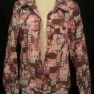 Christopher & Banks Size Medium Graphic Lightweight Jacket