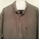 Ralph Lauren Jeans Mens Shirt Polo Xlarge Blue Green Plaid