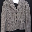 Ann Taylor Wool Black white Blazer 8 Womens Jacket Career