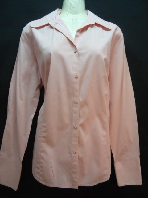 Ann Taylor Loft Shirt Pink 8 Long sleeve