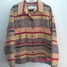 Alfred Dunner Blazer Jacket Red Gold Womens Graphic Fall sz 18