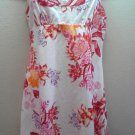 Guess Floral Blouse 11 Tank Top Shirt Juniors white Red