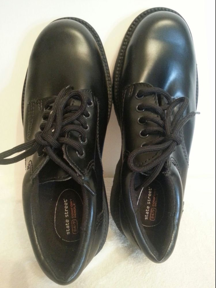 State Street comfort Mens size 7.5W Black Shoes