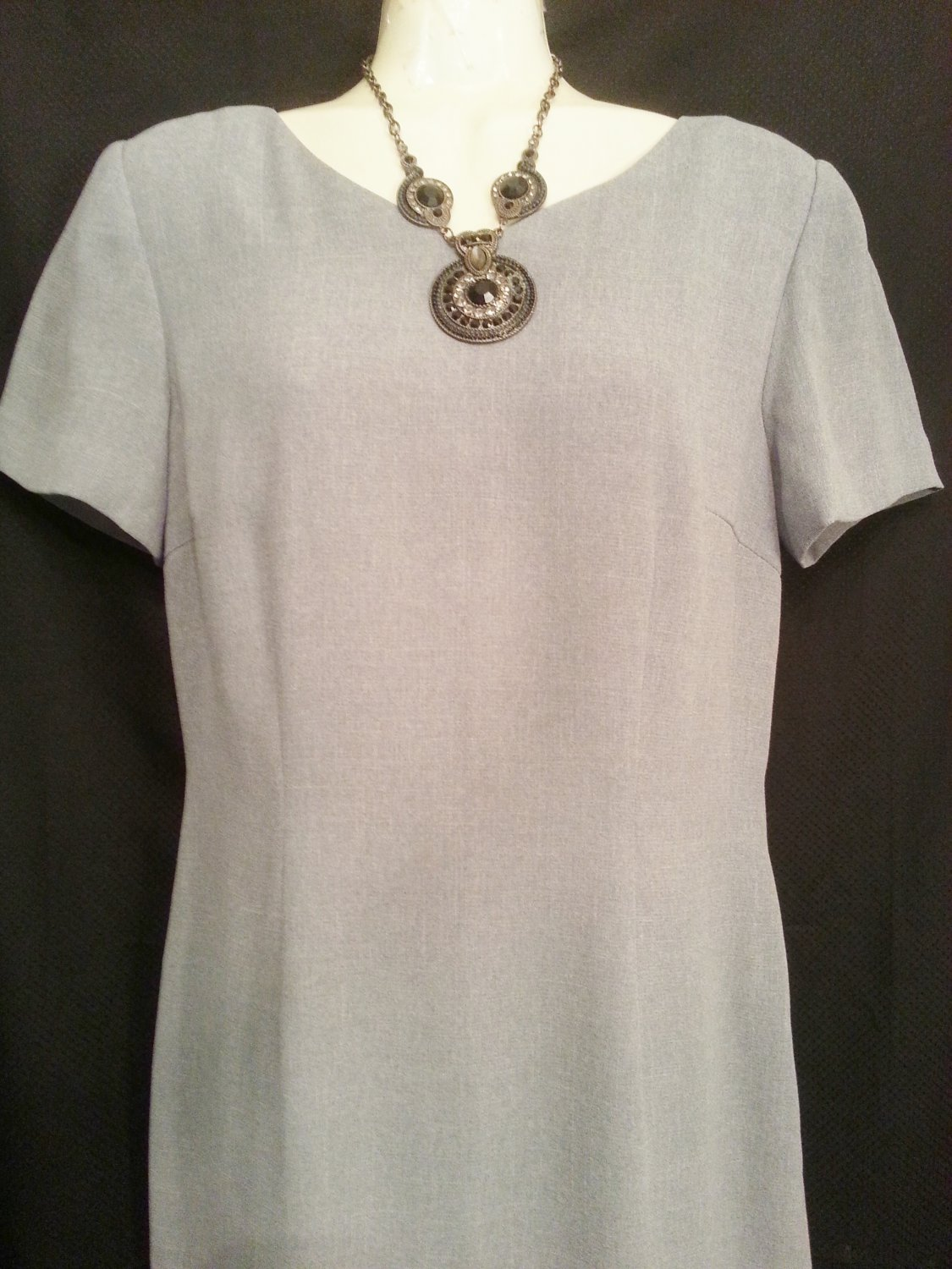 Talbots size 4 Silver Gray Career Dress
