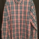 Tommy Hilfiger Xlarge red blue plaid long sleeve shirt