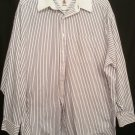 Tommy Hilfiger 100% cotton Blue white stripe ls 17-35