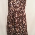 Twyla Blue 6 Black Floral Dress Sleeveless New