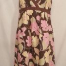 Saks fifth avenue Threads brown floral Linen Dress