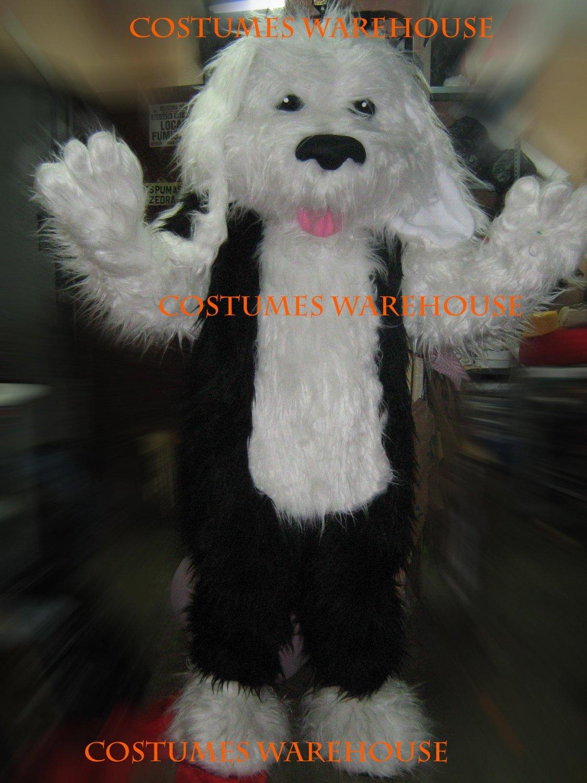 Black & White Doggie Costume Mascot ( colours available )