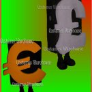 Euro Currency costume mascot