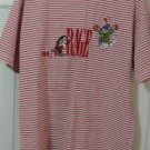 Disney Store Grumpy Dopey Outrageous Shirt Womens Size Large White Red Stripes