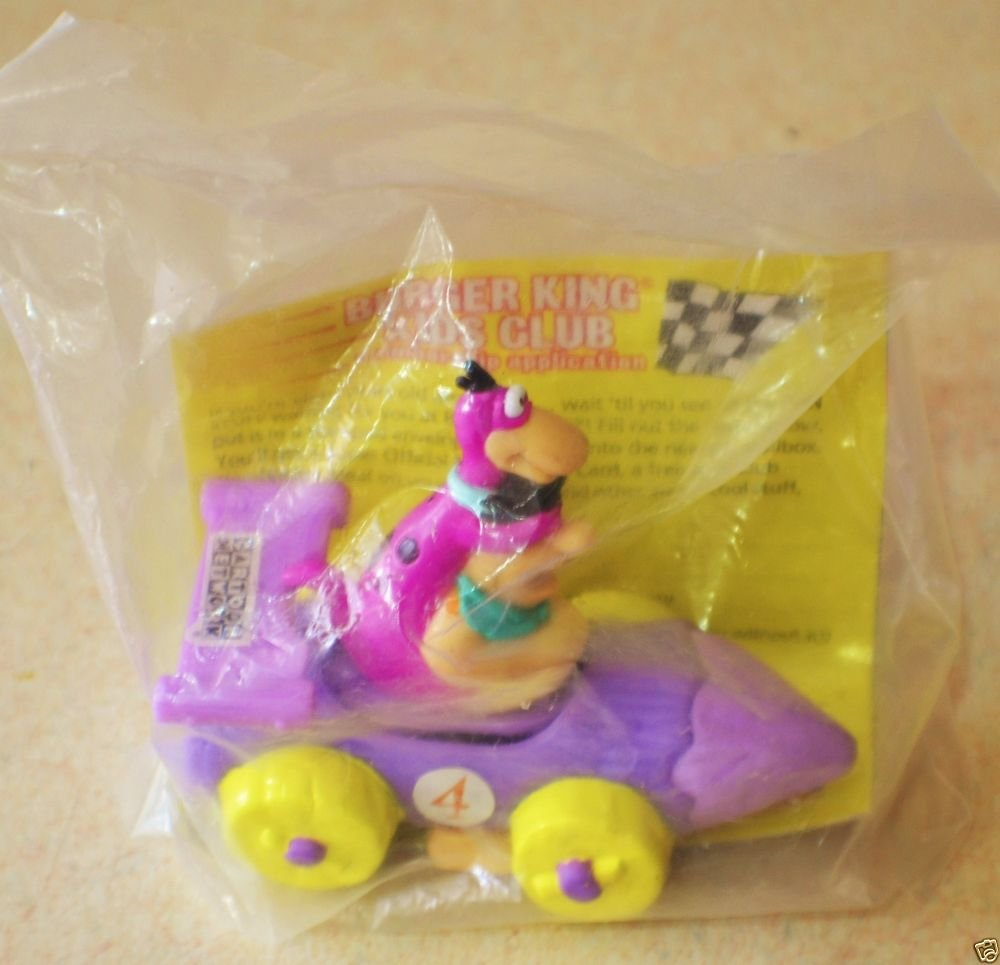 Fred Flintstone & Dino Burger King Cartoon Network Wacky Racers New Unopened