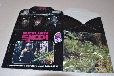 Return of the Jedi Taco Bell Kids Meal Box New Unused