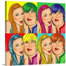 Pop Art Canvas Print from  20x24 inch, 2 people included