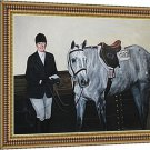 "Custom paintings, 1 Pet and 1 Person, 30""x40"", unframed - Painting from photographs"