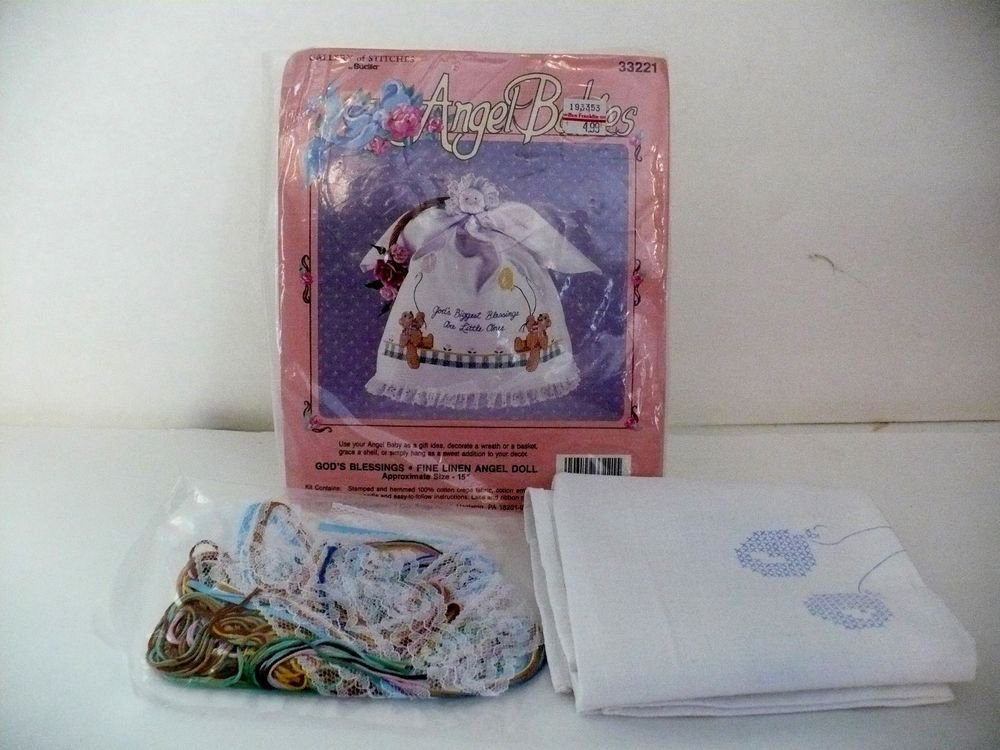 Gallery Of Stitches ~ Bucilla~ Angel Babies~ Christmas Is Love~ Doll Kit