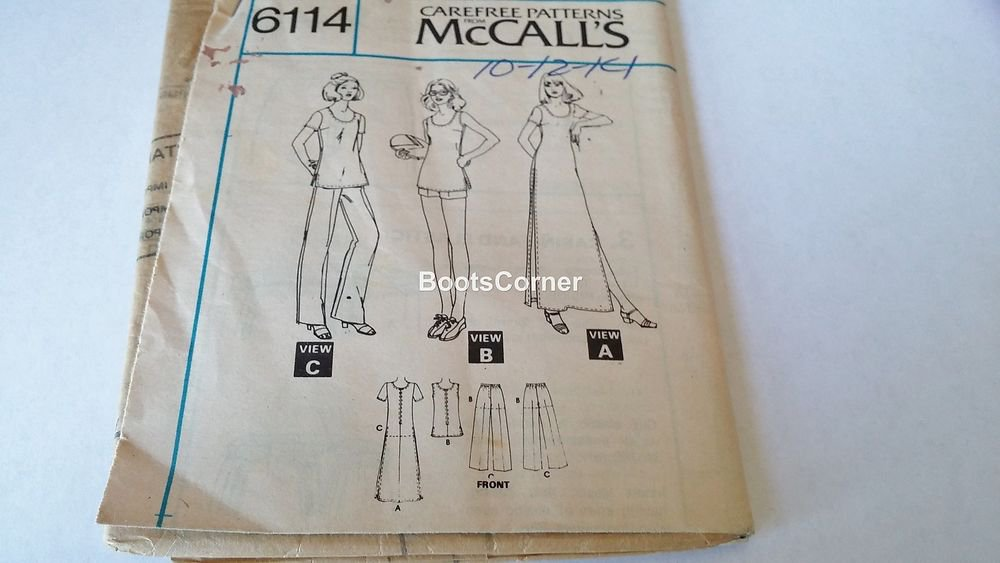 UNCUT McCall's Sewing Pattern #6114 - Dress Top Pants Shorts - Size 10 11 12