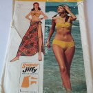UNCUT Simplicity Sewing Pattern #6402 - Super Jiffy Bikini & Wrap - Size 6P