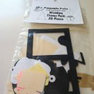 Wedding Theme Pack Die Cuts - 20 pieces Scrapbooking