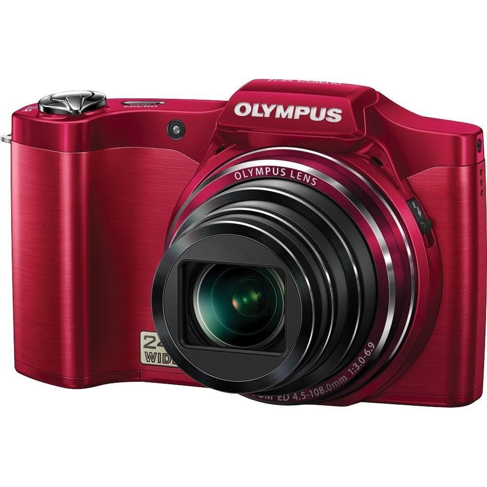 Olympus SZ-12 14MP Digital Camera with 24x Wide-Angle Zoom (Red)