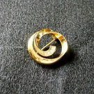Gold with Rhinestones Pin Brooch