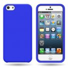 Silicone Fitted Soft Skin Case Cover for Apple iPhone 5 / 5S - Blue
