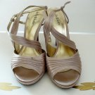 Kelly & Katie Sandals Size 8.5 Wide Ankle Strap Beige