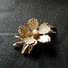 Bronze Pearl Pin Brooch