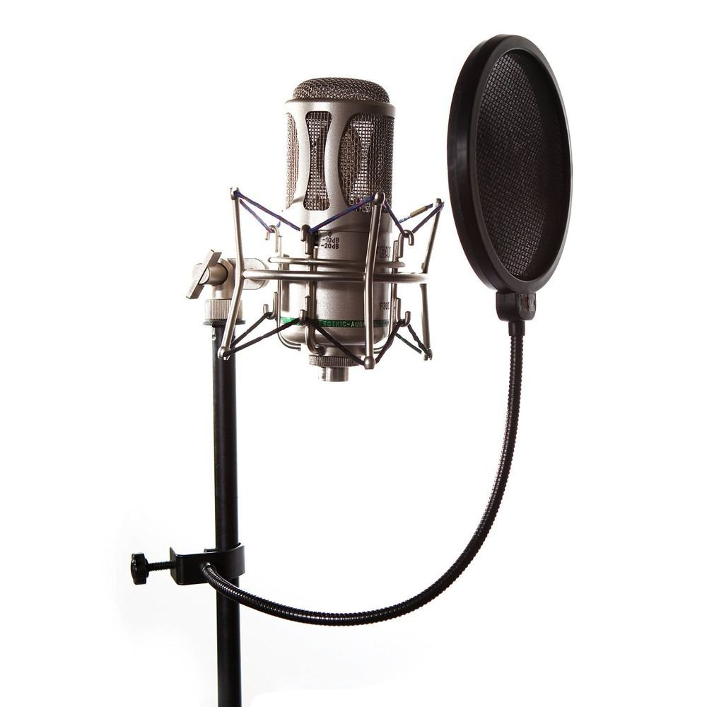 Pop Filter for Professional Sound Recording - Strong Gooseneck Holder