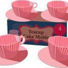 Little Girl Princess Parties Pink Teacups Bakeware for Baking Muffins