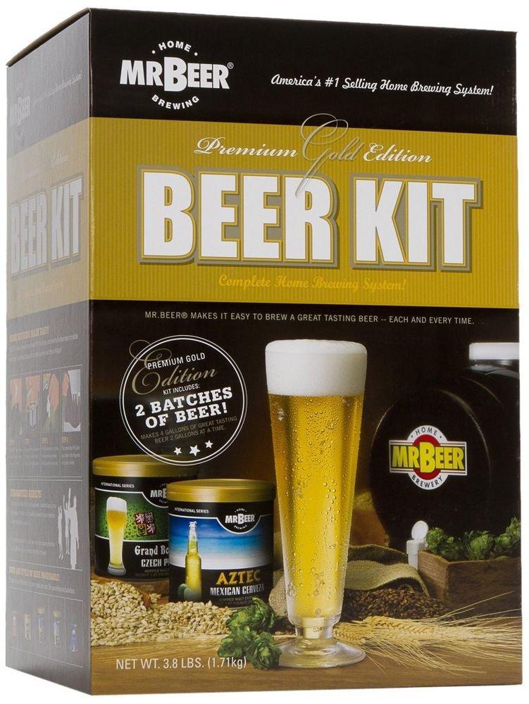 Mr. Beer Premium Gold Edition Beer Kit Making Ingredient Brewing Best Home Ale